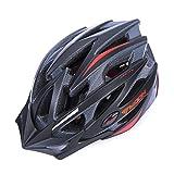 SUNVP Bicycle Helmet Integrated Casing Ultralight Bike Helmets, Red/Black, L