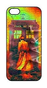 Hipster Custom { Doctor Who Case For iPhone 5 5S Case Cover } Hard Shell Tardis Black Case - AArt (iPhone 5 Manhattan Map Doctor who) Kimberly Kurzendoerfer