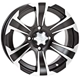 ITP SS312 Alloy Wheel Black Front 14x6 4+2 for Honda Kawasaki SUZ