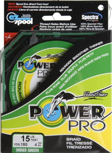 Power Pro Braided Line Moss Green - 150 Yds (Choose 5Lb - 50Lb) 15Lb Test (Line Braided Yds Fishing Spectra)