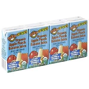 Earth's Best Organic, Tots, Organic Apple Peach Banana Juice, 4 Boxes