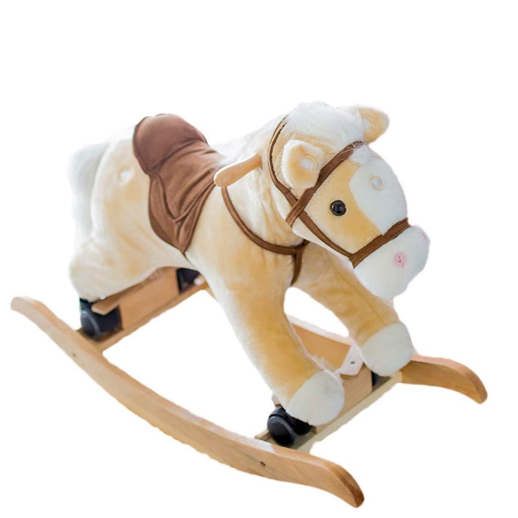 Ritter Stil Schaukelpferd Pl/üsch f/ür Baby 1-9 Jahre Alt Schaukel Baby//Schaukel Pferd//Indoor Schaukel/&Garten//Schaukelpferd Braun//Schaukeltier Pferd//Schaukelpferd Antik labebe Baby Schaukelpferd Holz