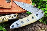 Cheap DKC-29 STING 7″Long, 4″ Folded 6oz Damascus Pocket Folding Knife DKC Knives ™ Hand Made