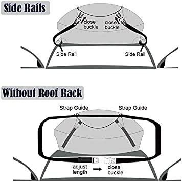 ESTINL Car Roof Bag No Roof Rack Rails or Bars Needed Black 15 Cubic Feet Waterproof Roofing Top Cargo Carrier Bags Soft Box Shell Large Heavy Duty Rooftop Luggage Storage Bag for Any Vehicle