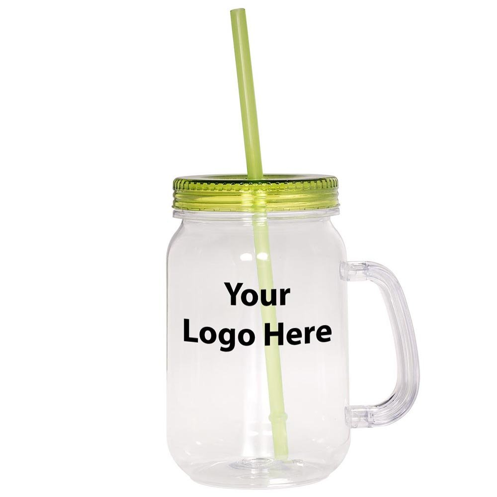 Country Mason Jar Sipper - 50 Quantity - $4.99 Each - PROMOTIONAL PRODUCT / BULK / Branded with YOUR LOGO / CUSTOMIZED