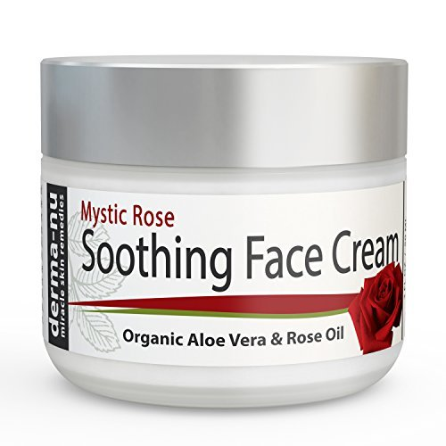 Soothing Face Cream for Wrinkles & Anti Aging by Derma-nu - Daily Moisturizer with Rose Oil, Organic Aloe Vera, Green Tea Plus Vitamin B5 for Wrinkle Repair Day Cream for Fine Lines - 2 oz