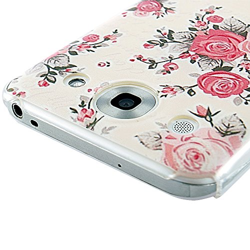 YOKIRIN F240 Case - F240 Fashion Style Colorful Painted Pink Flower PC Case Hard Cover for LG Optimus G Pro E980 F240k F240s F240l - Pink Flower