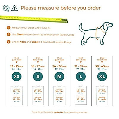 Embark Active Dog Harness, Easy On and Off with Front and Back Leash Attachments & Control Handle - No Pull Training, Size Adjustable and Non Choke