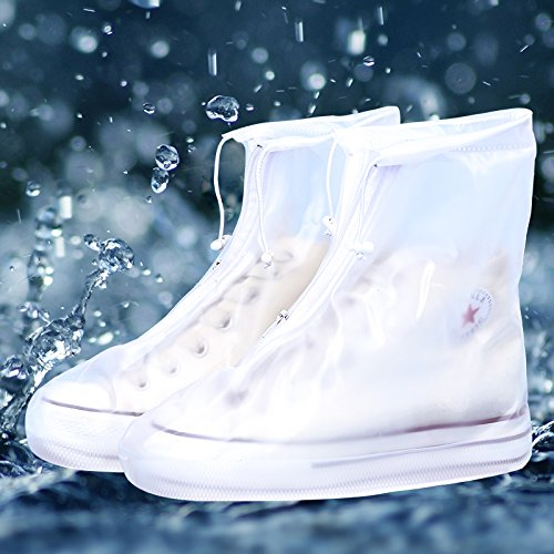 Outdoor Waterproof Rain Shoe Covers Overshoes Boot Gear Zippered Shoes for All Adult Men/Wome n YJM