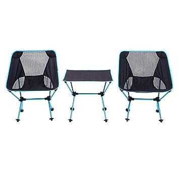 MIMI KING Mesa Plegable y Juego de sillas Portátil para ...