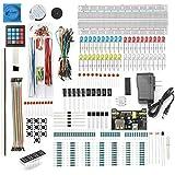 DEYUE 398 Arduino Electronic Starter Fun Kit Bundle | Basic Electronics Components Starter Kit | for Arduino, Raspberry Pi, STM32 | Power Supply Module, Power Adaptor, Jumper Wire