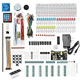 DEYUE 398 Arduino Electronic Starter Fun Kit Bundle | Basic Electronics Components Starter Kit | for Arduino, Raspberry Pi, STM32 | Power Supply Module, Power Adaptor, Jumper Wire