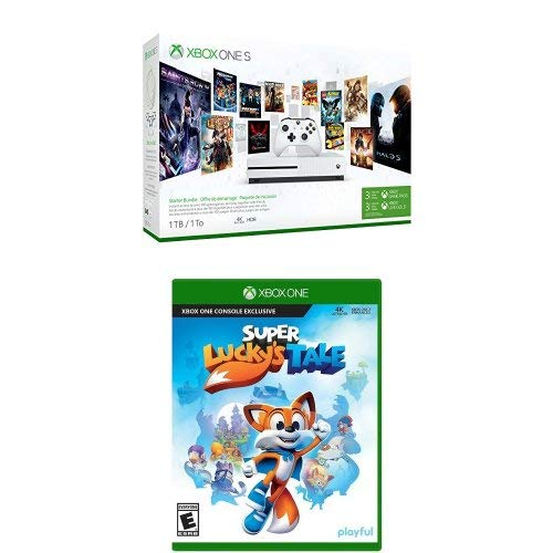 Xbox One S 1TB Console – Starter Bundle + Super Lucky's Tale
