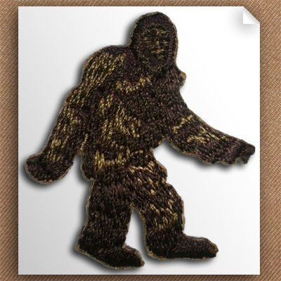 Self Stick Appliques (Embroidered Bigfoot Self-Stick Applique Three-Pack)