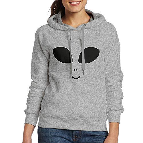 DFGHJZH-L Halloween Costume Cute Alien Womens Cool Adult Long-Sleeved Sweater ()
