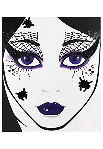 Morris Costumes Spider Web Face Decal (Halloween Makeup Web)