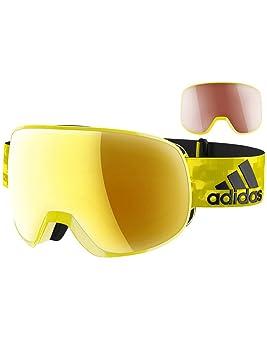 26e10c92cf0c1 Lunettes de neige homme ADIDAS Sport Eyewear Progressor Pro Pack Bright  Yellow Shiny Masque uni gold