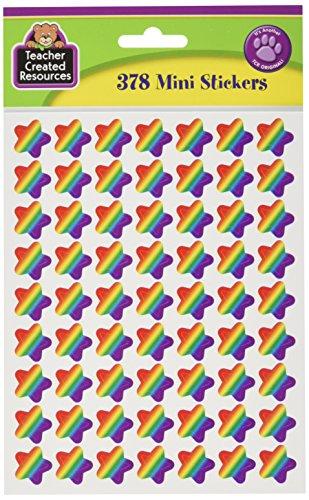 Teacher Created Resources Rainbow Stars Mini Stickers (5798)