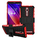 ZenFone5 Case,IVY [Stand Feature][Shockproof][Scratch-Resistant][Shock Absorbent][Perfect Fit] Case for ASUS ZenFone 5 [Red]