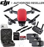 DJI Spark Quadcopter (Lava Red) + DJI Spark Remote Ultimate Bundle