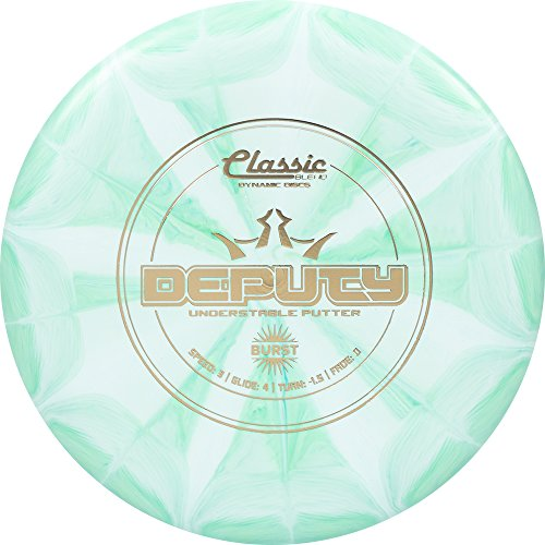 Classic Frisbee (Dynamic Discs Classic Blend Burst Deputy Putter Golf Disc [Colors May Vary] - 173-176g)