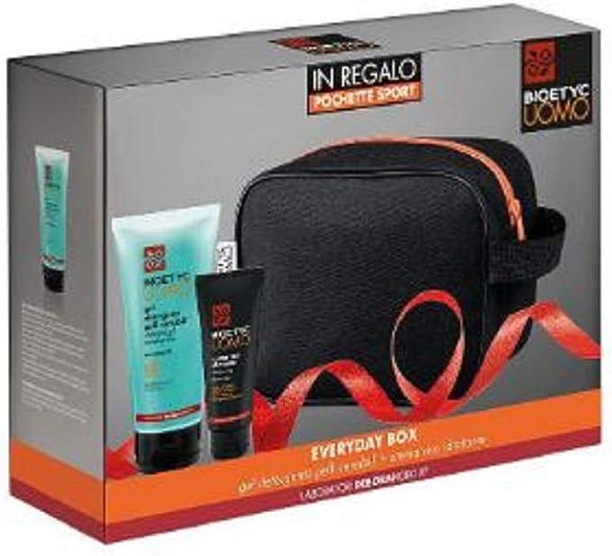 Deborah – Estuche Bioetyc para hombre Everydaybox – Gel limpiador de pieles sensibles 150 ml + crema hidratante facial 50 ml + bolsa de deporte de regalo: Amazon.es: Belleza