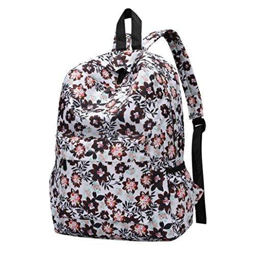 Fresh Style Women Backpacks Floral Print Bookbags Female Travel Backpack by VESNIBA