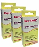 6X Ezy-Chek Disposable Breathalyser - Bagless Technology : Uk And Nf Standards 3X Twin Pack Breathalyzer