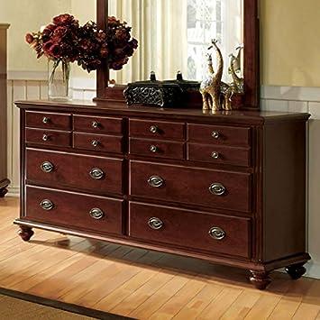 gabrielle solid wood dark cherry finish bedroom dresser