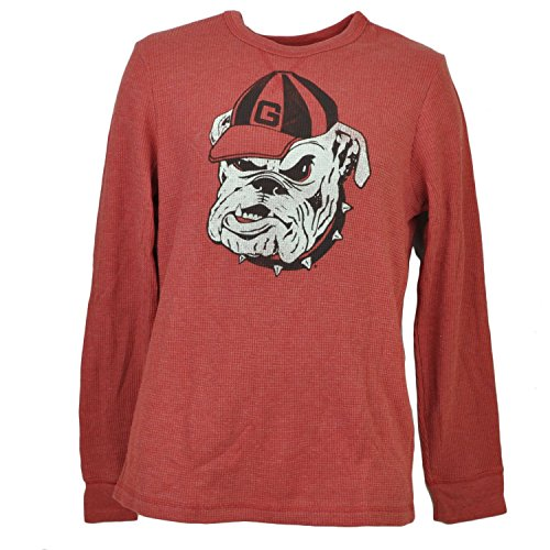 NCAA Georgia Bulldog Mens Thermal Pullover Shirt Long Sleeve Crew Neck (Georgia Bulldogs Ncaa Thermal)