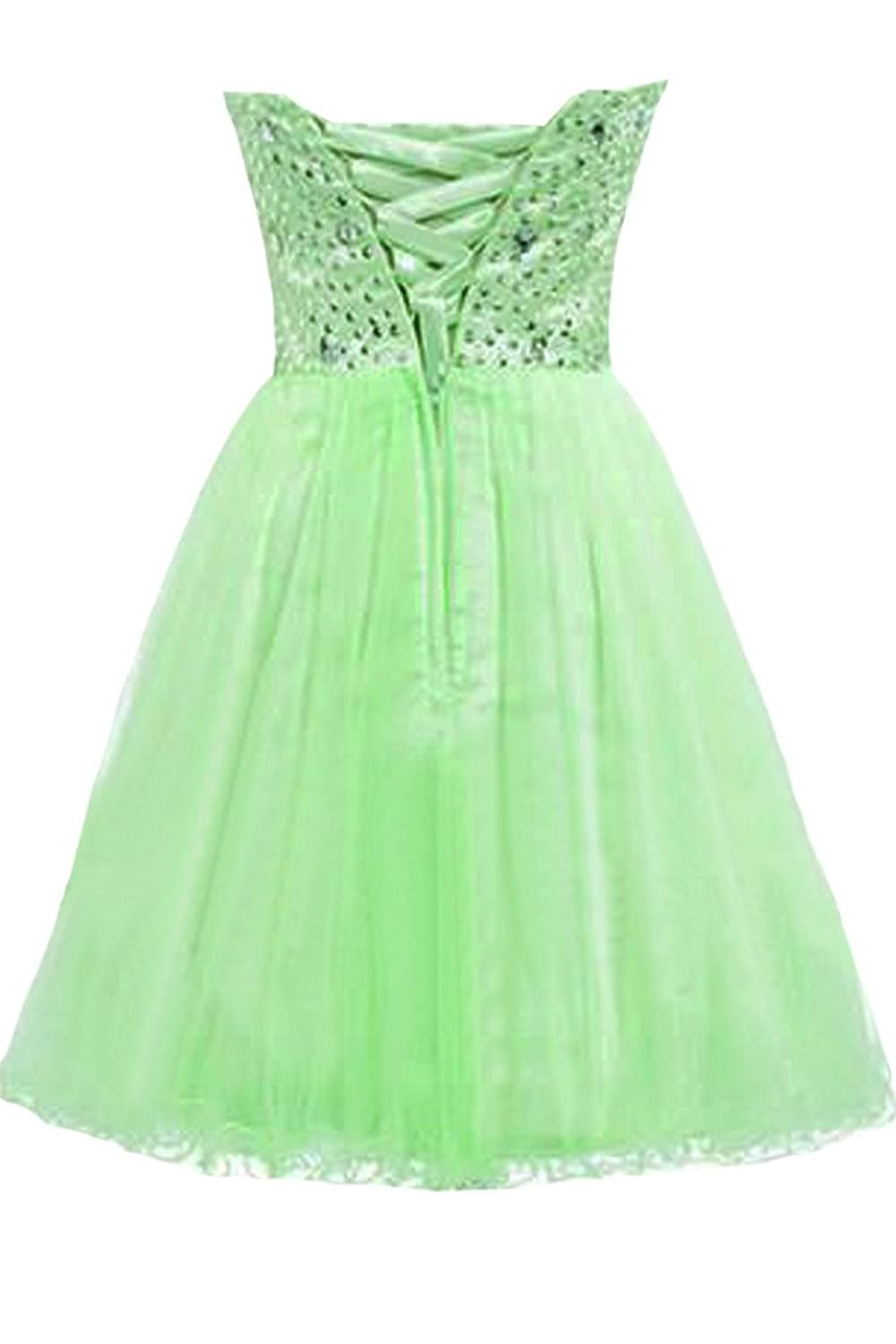 Sunvary Sequins and Rhinestones A Line Sweetheart Tulle Short Party Gowns Cocktail Dresses