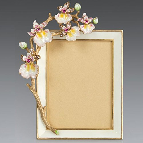Jay Strongwater Kelsey Orchid Frame SPF5802-256 Flora Finish by Jay Stongwater