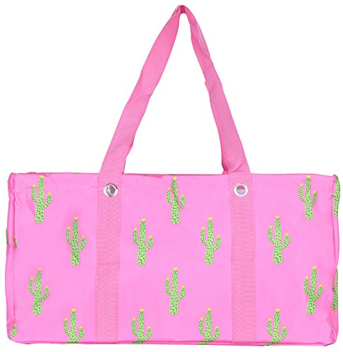 Wireframe All Purpose Large Utility Bag (Pink Cactus) Pink All Purpose Totes