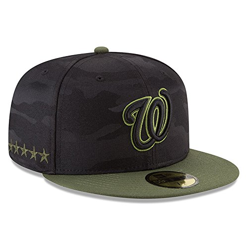 (New Era Washington Nationals Memorial Day Fitted Cap 59fifty Basecap Limited Special Edition)