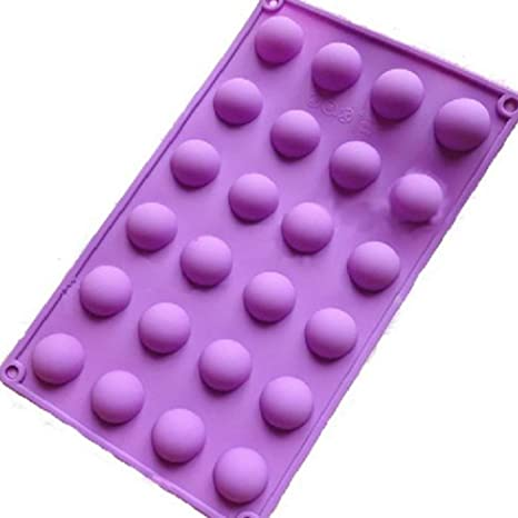 Aofocy Molde de Silicona 24 cm 1 (pequeño) semicírculo/Semi-esferas/