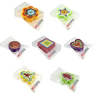 Colorful Plastic Nesting Cookie Cutters - 7 sets