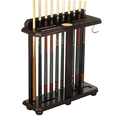 Fairview Game Rooms Traditional, Floor-Style Pool Cue Holder