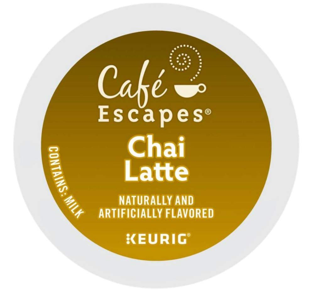 Cafe Escapes Chai Latte Single Serve K-Cups for Keurig Brewers 96 Count