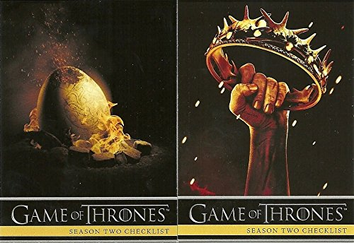 2013 Game of Thrones Season 2 Trading Cards Complete Base Set 88 cards ()