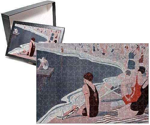 1920s Men's Bathing Suit Costume (Photo Jigsaw Puzzle of The Anchorite by Laurie Tayler)