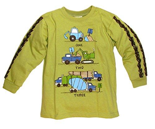 Mulberribush Little Boys' 1,2 3 Trucks Shirt (4)