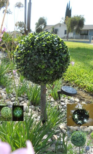 Solar Lighting Grass Privet Spheres Lights by ASC