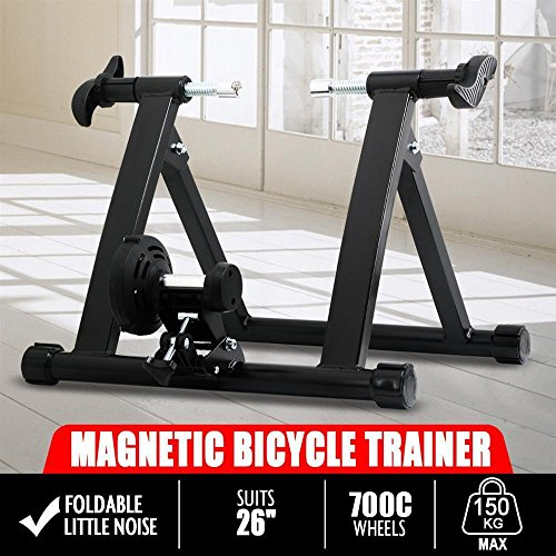 Yaheetech Radical Deal Indoor Magnet Steel Bike Bicycle Exercise Trainer Stand Resistance Stationary Bike Trainer by Yaheetech