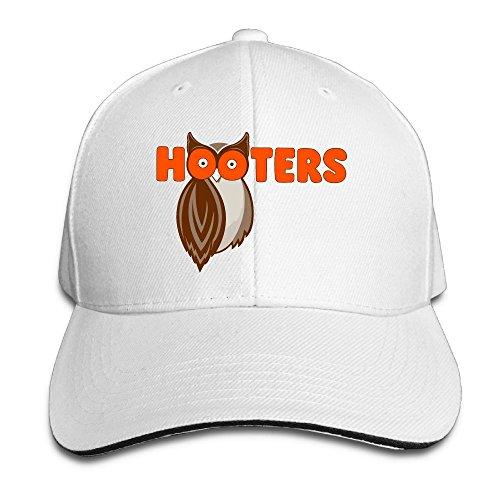 Unisex Sandwich Peaked Cap Save The Hooters Fashion Design Adjustable Cotton Baseball Caps Hats White