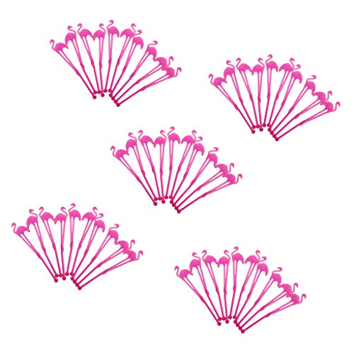 Fityle Plastic Flamingo Coffee Stirrers, Stir Sticks for Tea & Hot or Cold Beverage by Fityle (Image #4)