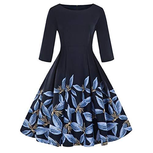 2f6d106dcb1 4 Manches Lianmengmvp 3 Soirée Audrey 50 Hepburn Rétro Femmes 1950 s A  Années De Ciel Longue Cocktail Bleu Rockabilly Robe Vintage vqxzPrwAv