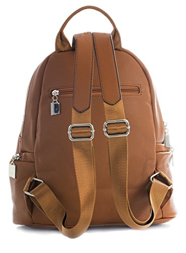 2 BHSL Baby Pink Medium Rucksack Vegan Size Backpack Bag Pockets Unisex Designer Work Design Office Multi Leather rZr64q