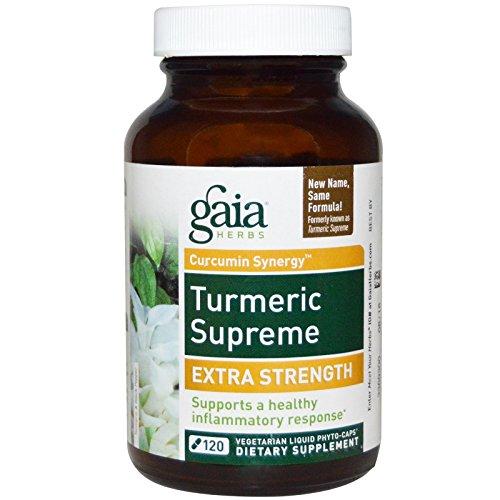 Gaia Herbs Turmeric Supreme Extra Strength Liquid Phyto Capsules  120 Count