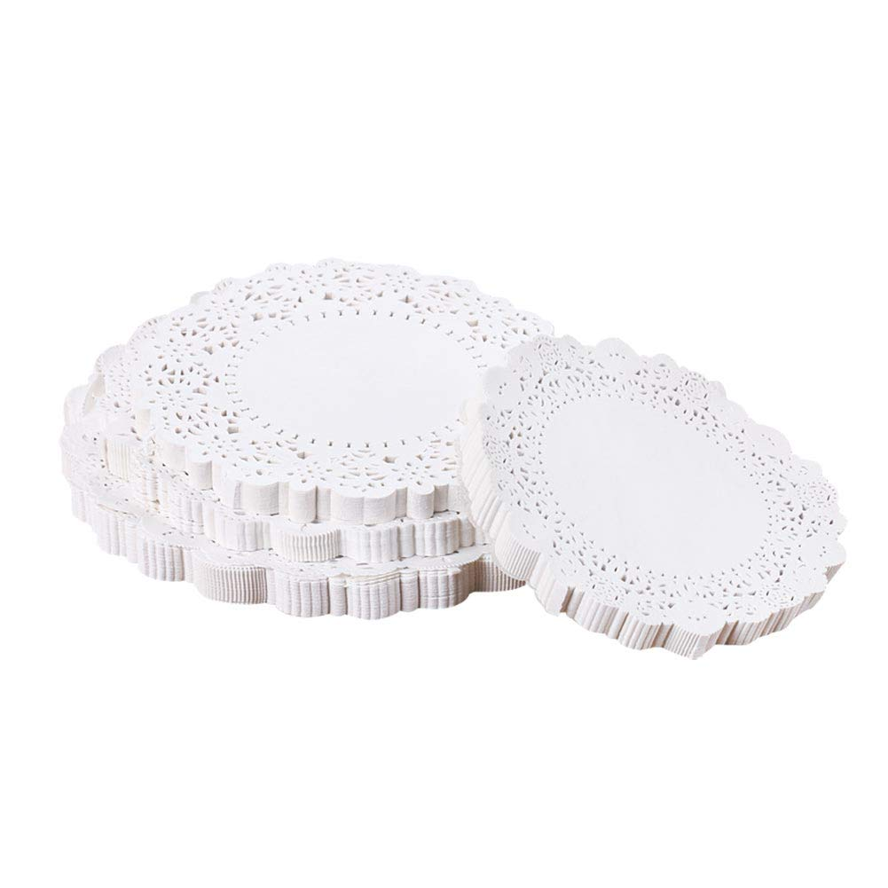 7.5 Disposable Round Paper Doilies for Food Pizza BBQ Dessert Plate Buffet Trays Lners 100PCS