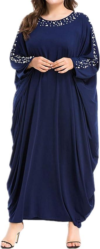 Zhbotaolang Abaya Femme Musulmane Robe Dubai Vetement Priere Islamique Jalabiya Kaftan Arabe Longue Vintages Perlage Dentelle Amazon Fr Vetements Et Accessoires